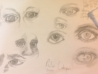 Pieter Lategan, eyes, study, pencil, Africa