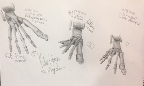 Artistic Proposal of the feet of a person.